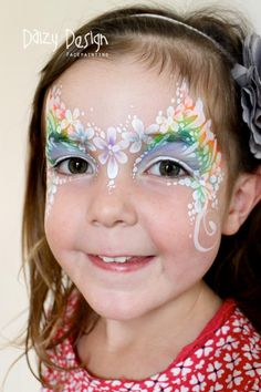 Flower princess face painting