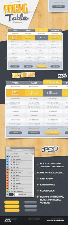 ◖ [Get Free]△ Pricing Table Box Business Buy Clean Columns Data Web Design, Graphic Design, Element Table, Table Template, 404 Pages, Web Forms, Pricing Table, Information Graphics, Vector Shapes