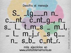 Soluciones Bloque 3 - Unidad de Memoria Entrenamiento cerebral Math Equations, Words, Frases, Unity, Brain, Training, Messages, Horse