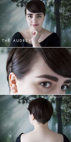 Five ways to style a pixie cut: the Audrey no. 2 | from lostinaspotlessmind.com
