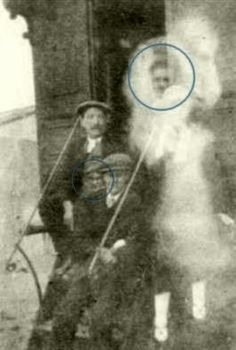 This one looks interesting and actually shows two ghostly faces....