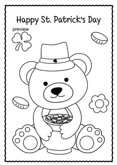 Patrick`s Day Coloring Pages St Patricks Day Crafts For Kids, St Patrick's Day Crafts, Color Activities, Activities For Kids, Art Projects, Projects To Try, St Patrick Day Activities, Color Sheets, Student Council