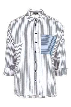 Oversized Patch Pocket Shirt