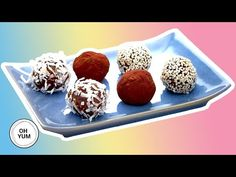 Chef Anna Olson shows you how to make chocolate balls that will give you the energy to dominate your day! Anna takes you through the recipe step by step so y. Anna Olson, Enery Bites, Good Carbs, Recipe Steps, Toasted Almonds, Energy Balls, Party Desserts, How To Make Chocolate, Brighten Your Day