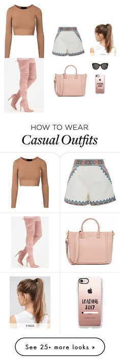 """""""Outfit Casual"""" by satiana on Polyvore featuring Talitha, Casetify, Gentle Monster, NIKE, StreetStyle and fabulous"""