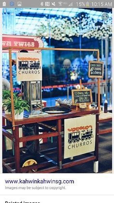 I want a churro stand at my party where they fry the churros on the spot
