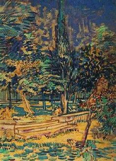 Stone Steps in the Garden of the Asylum - Vincent van Gogh Oil Painting Reproduction
