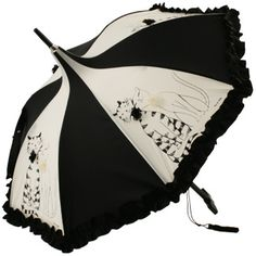 black and white art umbrella Sun Parasol, Lace Umbrella, Under My Umbrella, Cool Umbrellas, Umbrellas Parasols, Accessoires Divers, Unicorn Fashion, Steampunk Corset, Rain Gear