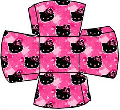 AQUARELINHA: Kit Hello Kitty Pink e black