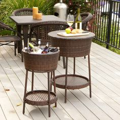 Never again have your beverages not stay cold, this wicker bucket is the perfect backyard accessory for summer dinners.
