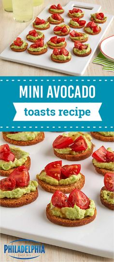 Mini Avocado Toasts Impress Your Guests With This Bite Sized Etizer Recipe Party Dish Is Quick To Prep It S Ready For Outdoor Summer