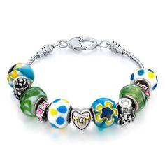 Valentines Day Gifts Pugster Murano Glass Beads Fit Pandora Chamilia Biagi Charm Bracelet Pugster. $49.99. Metal: metal,murano glass. Color: silver,colorful. Weight (gram): 47.8. Size (mm): 210*14.73*14.73