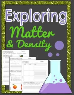 Print, copy, and experiment! Make it a booklet and have plans for the week or even two weeks!Explore matter by using the scientific method to complete experiments. This product takes you through the scientific method step by step and includes 3 detailed experiments.