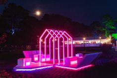The Light Lounge in pink! Photo by Mike Massaro.