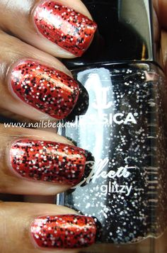 Jessica Effects Glitzy Collection, Bling It Black | Nails Beautiqued