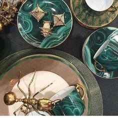 Malachite Accessories #interiordesign #decor #malachite #gold #inspiration #bykoket