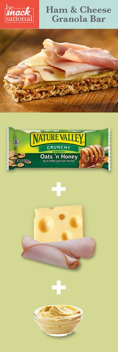 Ham & Cheese Granola Bar - Layer On The Flavor. Make your granola bar do double-duty with added ham, cheese and mustard.