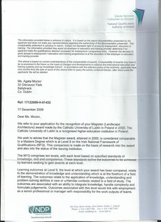 2009, National Qualifications Authority of Ireland, Qualifications Recognition