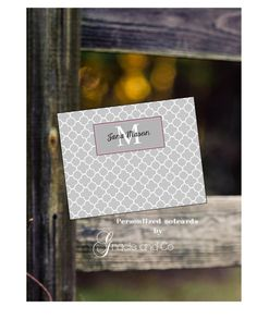 Personalized custom handmade cards stationery by gracieandco, $52.50
