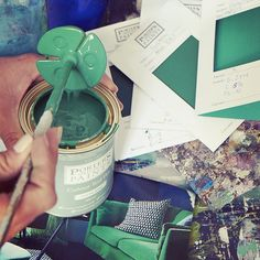 This custom colour project had us dreaming lush tropical green dreams today of hammocks, warm evenings and lazy summers. House Painter, Color Test, Hammocks, World Of Color, Happy Friday, Lush, This Is Us, Tropical, Colours