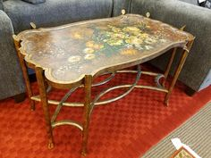 This decorative painted floral table is just $219.