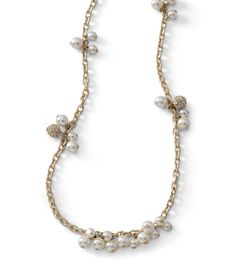 Crystals + resin pearls = the Crystals and Cream necklace.