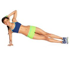 Side Plank Crank - Use that time you are spending holding your side plank to also tone your arms!