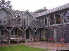 Love the posts - Oak veranda added to barn conversion in Devon