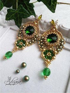 Oriental earrings by CrystalPearlStudio