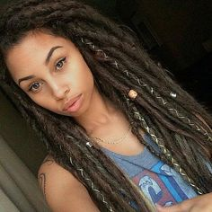Dreadlocks styling ideas from updos to hair jewelry.