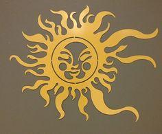 Items similar to Sun Metal Wall Art - Garden Art - Sunshine - Beach Decor - Wall Art - Home Decor - Metal Art on Etsy Metal Sun Wall Art, Metal Artwork, Metal Walls, Metal Projects, Metal Crafts, Sun Moon Stars, Metal Garden Art, Sun Art, Stencil Patterns