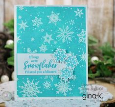 Sharing Handmade cards and Videos! Snowflake Cards, Snowflakes, Christmas Cards 2018, Christmas Ideas, Stamping Up, Winter, Card Making, September, Greeting Cards
