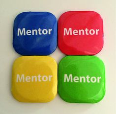 32mm Square Button Badge - Mentor – London Emblem