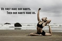 eating clean and training hard are GREAT habits to make.