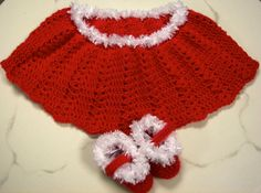 Holiday Christmas Poncho 6  12 Months with by dcoycrochetsforyou, $27.00