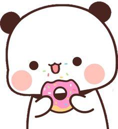 Panda Gif, Panda Bear, Cute Love Cartoons, Cute Cartoon, Bear Gif, Chibi Cat, Little Panda, Cartoon Gifs, Cute Anime Wallpaper