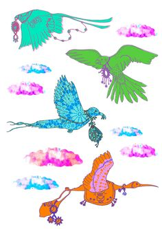 Beautiful illustration of Birds wearing antique jewellery pieces inspired by V&A・Digitally printed onto clear vinyl・Size 40 cm x 30 cm (Set of 2 sheets)・Designed by Sas and Yosh & Printed in the Nutmeg Wall Art studio UK・Shipping worldwide from the UK. Wall Decor, Wall Art, Wall Stickers, Antique Jewelry, Moose Art, Birds, Antiques, Illustration, Prints