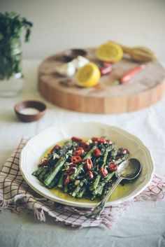 Chargrilled Asparagus with Mint, Chilli and Garlic