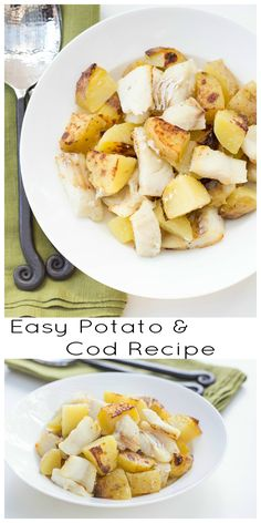 Easy Potato and Cod Recipe, try and tell me you don't have time to cook a homemade meal after this one.