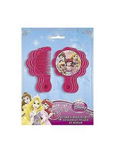 awesome Disney Princess Comb & Mirror Set / Favors (4 each) Check more at http://partythemesforbirthday.com/product/disney-princess-comb-mirror-set-favors-4-each/