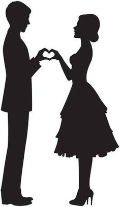 Vector Illustration of silhouette of the bride and groom holding hands vector art, clipart and stock vectors. Image of silhouette of the bride and groom holding hands vector art, clipart and stock vectors. Couple Silhouette, Wedding Silhouette, Silhouette Clip Art, Bride And Groom Silhouette, Silhouette Images, Silhouette Portrait, Couple Drawings, Pencil Art Drawings, Hand Illustration