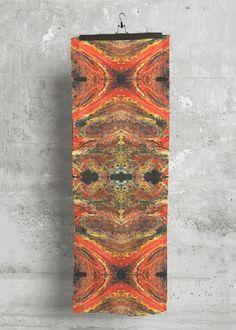 Cashmere Silk Scarf Blaze Interlude In Brown Orange Red By Vida Original Artist Cashmere Silk Scarf Cashmere Silk