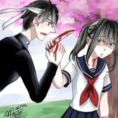 More Yandere Sim art. This time, as you can see, some Ayano-Budo sketches, inspired by this comic: fav.me/dadwh0h I ship them * * * Yandere Simulator (c) YandereDev Art by me