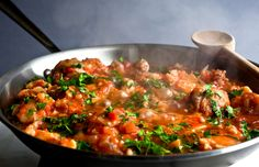 NYT Cooking: Greek Chicken Stew With Cauliflower and Olives