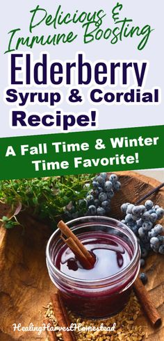 How to make elderberry syrup and turn it into a delicious sipping cordial for health and wellness. Elderberries have tremendous immune boosting powers, and now you can enjoy a little tonic toddy in the evening for your health! This home remedy is an easy and simple recipe that anyone can make for a healthy family. #elderberry #elderberrysyrup #cordial #herbal #homeremedy #recipe #healingharvesthomestead #getridof #cold #flu #natural Healthy Dessert Recipes, Clean Recipes, Organic Recipes, Fall Recipes, Keto Recipes, Natural Hemroid Remedies, Natural Remedies For Migraines, Natural Health Remedies, Weight Loss Soup