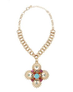 Turquoise+Howlite+Fleur+Pendant+Necklace+by+R.J.+Graziano+at+Neiman+Marcus+Last+Call.