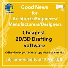 Good News for Architecture/Engineers/Manufactures/Designers Cheapest Drafting Software Drafting Software, Software Sales, Engineers, Good News, 2d, Designers, How To Plan, Architecture, Books