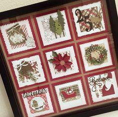 Framed Christmas sampler