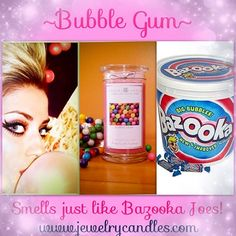 jewelry candles/pinterest | Jewelry Candles / Bubble Gum scented candle! Amazing!