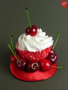 Cherries Cupcake Fascinator...fun!